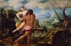 Rape of Persephone (by Greek God Hades) by Alessandro Allori (1536-1607)