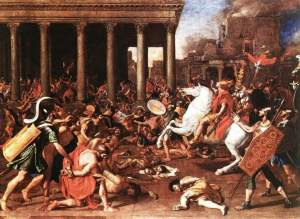 Destruction of the Temple at Jerusalem. Painted by Nicolas Poussin, 1640.